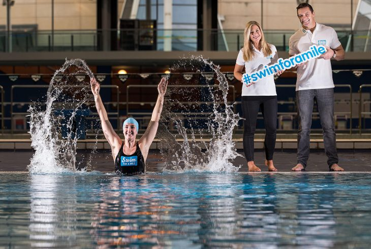 Swim for a Mile. Melanie Nocher, Laura Woods and David Wallace 11/1/2016