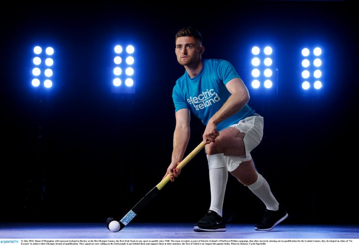 11 July 2016; Shane O'Donoghue will represent Ireland in Hockey at the Rio Olympic Games, the first Irish Team in any sport to qualify since 1948. The team revealed, as part of Electric Ireland's #ThePowerWithin campaign, that after narrowly missing out on qualification for the London Games, they developed an ethos of 'No Excuses' to achieve their Olympic dream of qualification. They squad are now calling on the Irish people to get behind them and support them in their matches, the first of which is on August 6th against India. Photo by Ramsey Cardy/Sportsfile