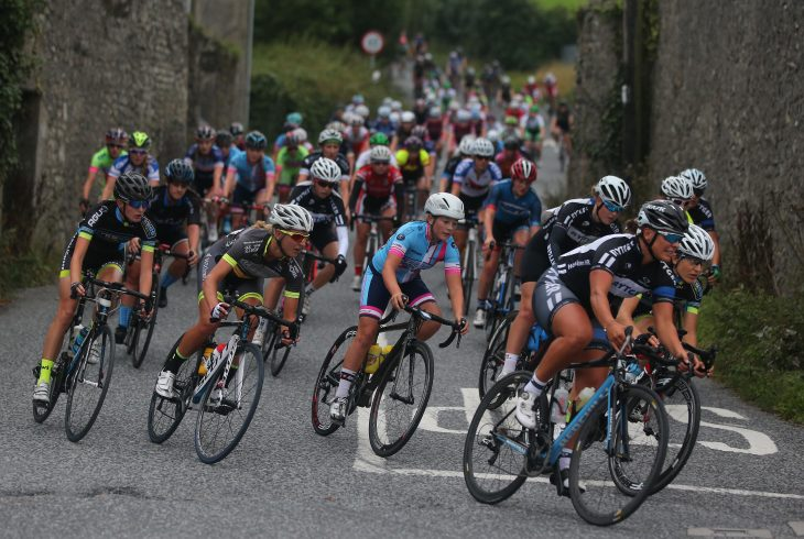 PRESS RELEASE….NO REPRO FEE……. An Post Ras na mBan Stage 1 7/9/2016 The peleton in Bennetsbridge Pic Lorraine O'Sullivan PRESS RELEASE….NO REPRO FEE…….